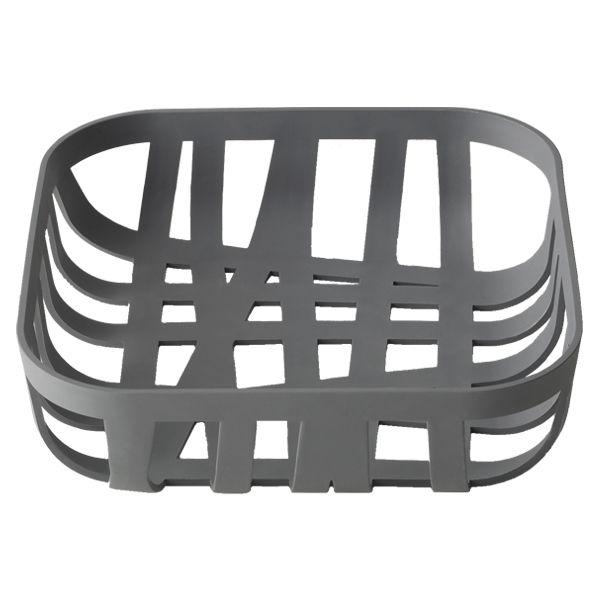 Wicker bread basket, dark grey