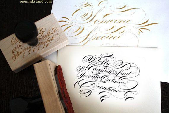 Luxus-individuelle Kalligraphie Absenderadresse von OpenInkStand