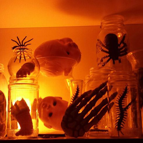 fun and easy decorating project for your insane asylum halloween party - Halloween Party At Work