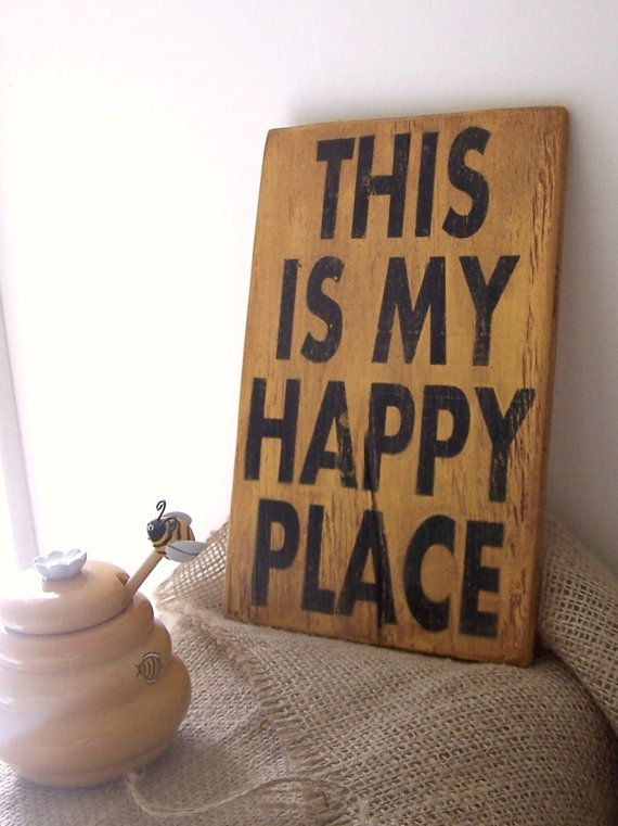 "This Is My Happy Place - 6"" x 9"" Small Wood Sign"