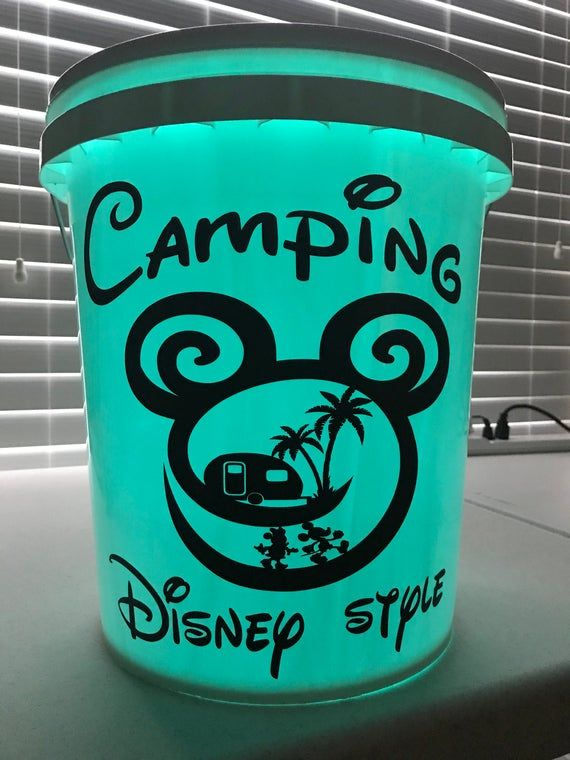 bucket light camping decal Bucket Decals Bucket lights,glow bucket,personalized,rv decal camper camping decals travel decals LED