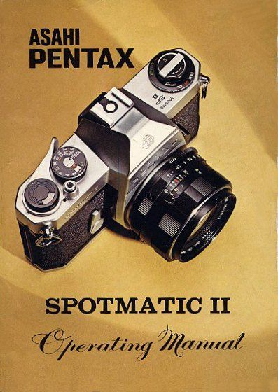 Wonderful! This was the camera to have when I was growing up. My Dad had one. Number four Asahi Pentax Spotmatic II Manual objectives screw engagement…