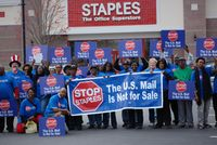 #Media #Oligarchs #MegaBanks vs #Union #Occupy #BLM   After Years of Protest and Boycott by APWU and Allies, the Deal Between the U.S. Postal Service and Staples to Sell Postal Services Ends   http://www.aflcio.org/Blog/Organizing-Bargaining/After-Years-of-Protest-and-Boycott-by-APWU-and-Allies-the-Deal-Between-the-U.S.-Postal-Service-and-Staples-to-Sell-Postal-Services-Ends   The U.S. Postal Service announced in a letter to the American Postal Workers Union (APWU) that the deal between the…
