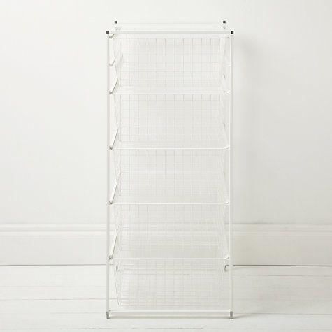 Buy Elfa 104cm Freestanding Basket Tower Online at johnlewis.com