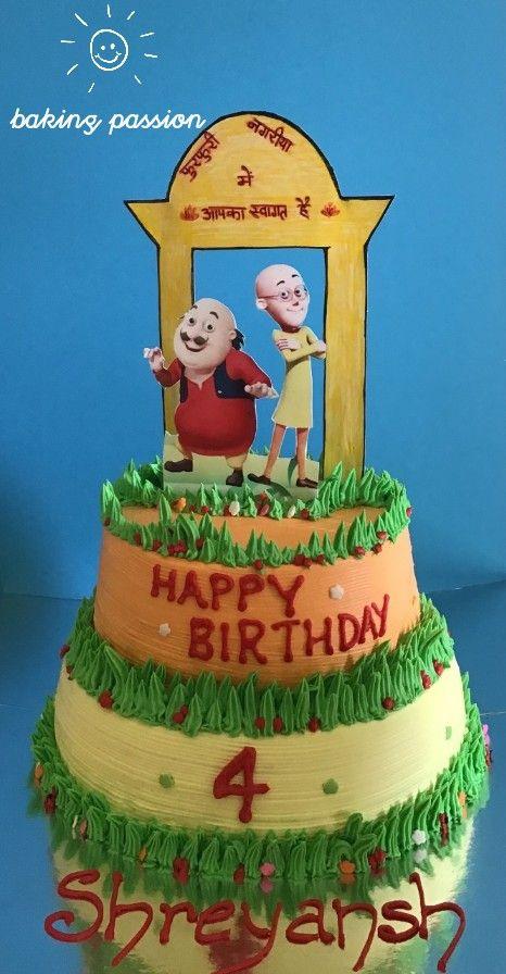 Motu Patlu Cake Baking Passion My Creations Pinterest Cake