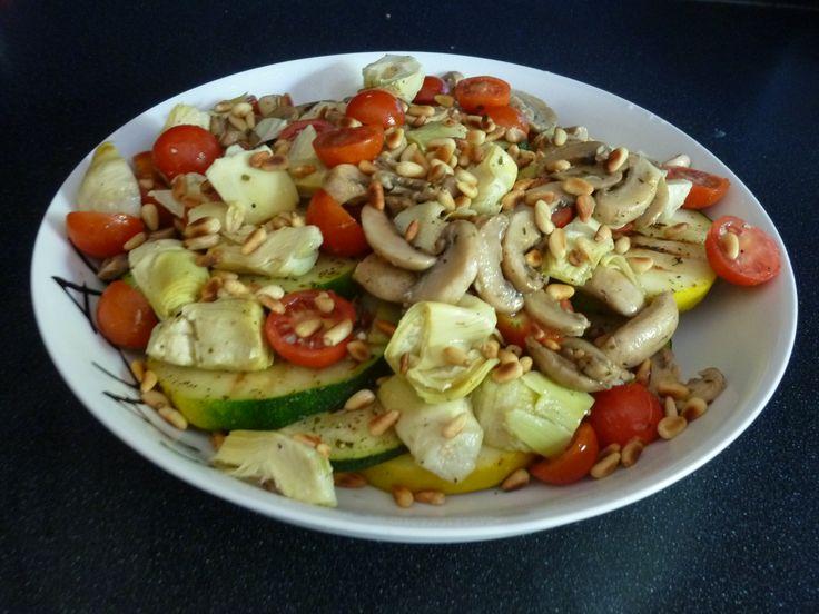 Courgette & Artisjok salade www.nieuwe-gerechten.jouwweb.nl