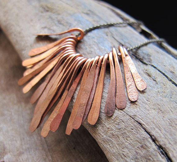 Hammered Paddles set - Copper Paddle Drop Charms for Necklace making on Etsy, $14.20