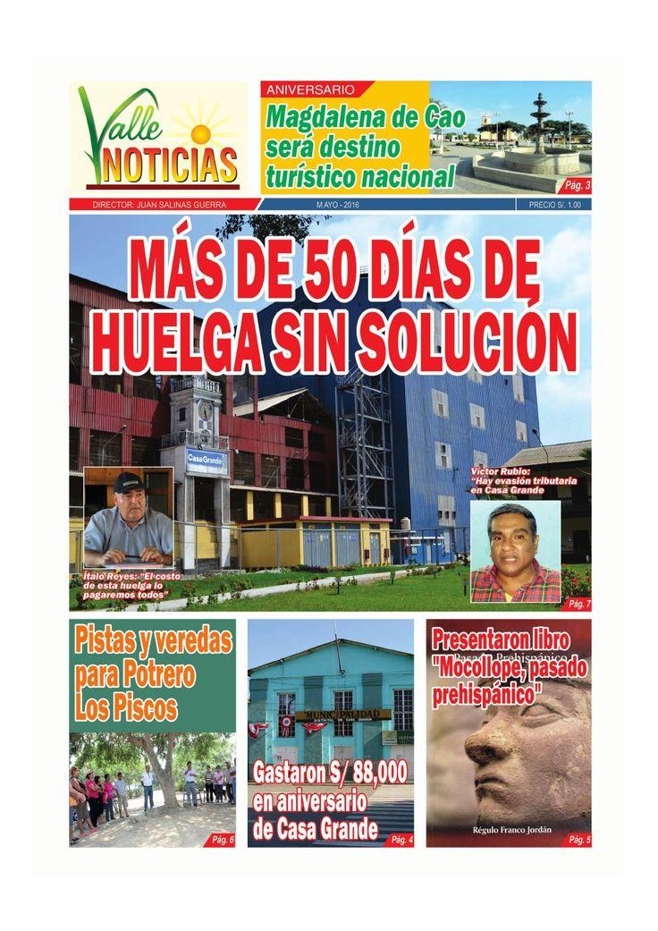 ValleNoticias, edición del mes de mayo 2016