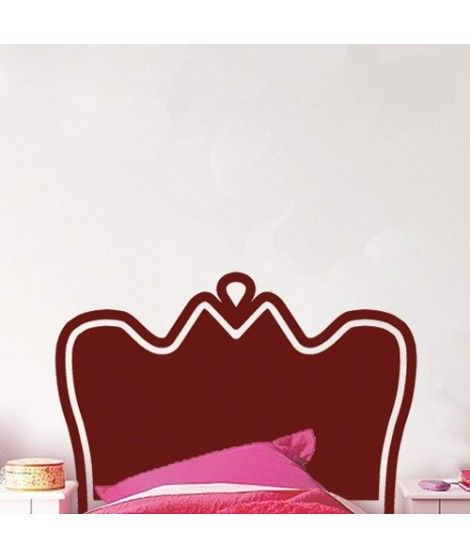 Vintage bedhead sticker in cherry color for small beds