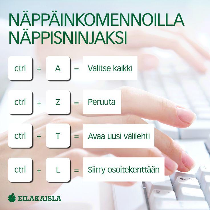 Näppiskomennoilla näppisninjaksi! #näppäinkomennot #tietokone #työ #eilakaisla