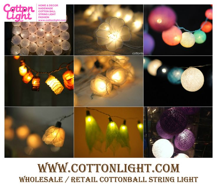 1000+ images about wholesale cottonlight on Pinterest Cotton ball lights, Wedding and String ...