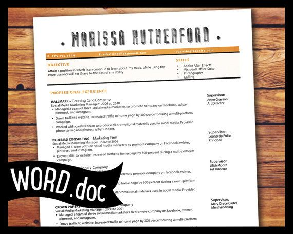 resume template pdf templates for microsoft word functional google docs instant download
