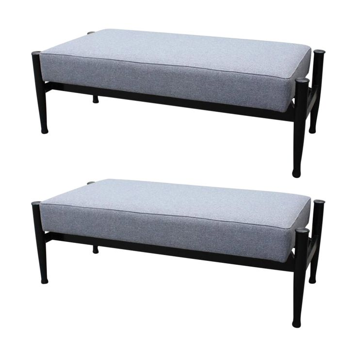 Pair of Italian Mid Century Benches in style of Frattini