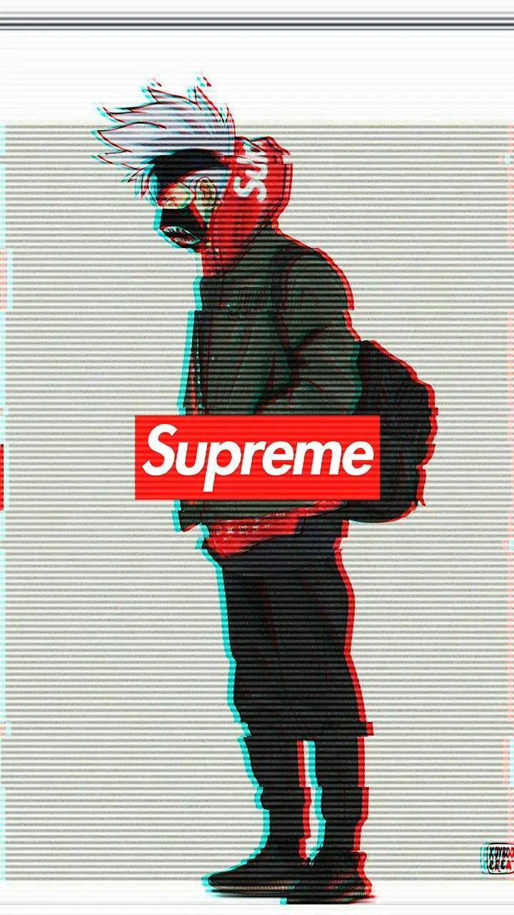 I Like To Rap And Make Beats But I Mostly Like To Watch Naruto Supreme Iphone Wallpaper Supreme Wallpaper Glitch Wallpaper