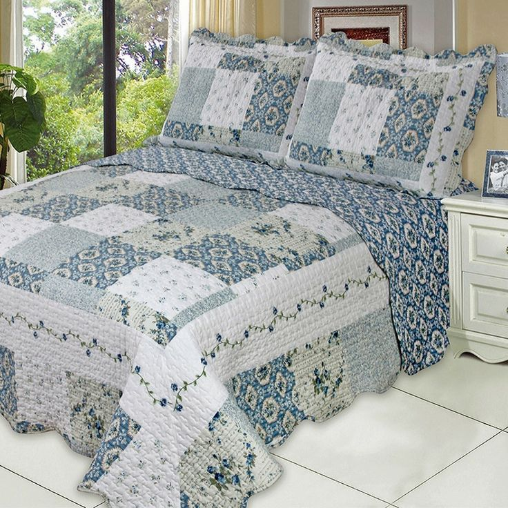 Delightful Luxury Brea Oversized Microfiber Coverlet Quilt Set With Shams Wrinkle Free