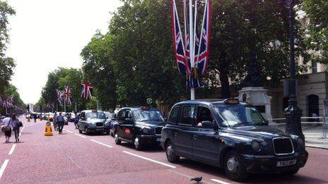 Cab strike- Areas around Parliament Square and Trafalgar Square were gridlocked