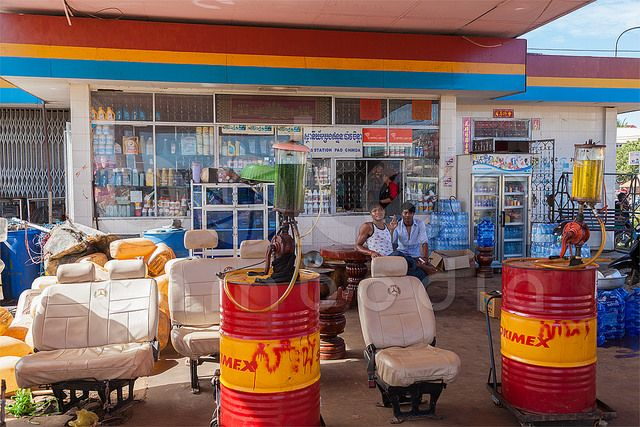 Gas station | Stung Treng Province, Cambodia