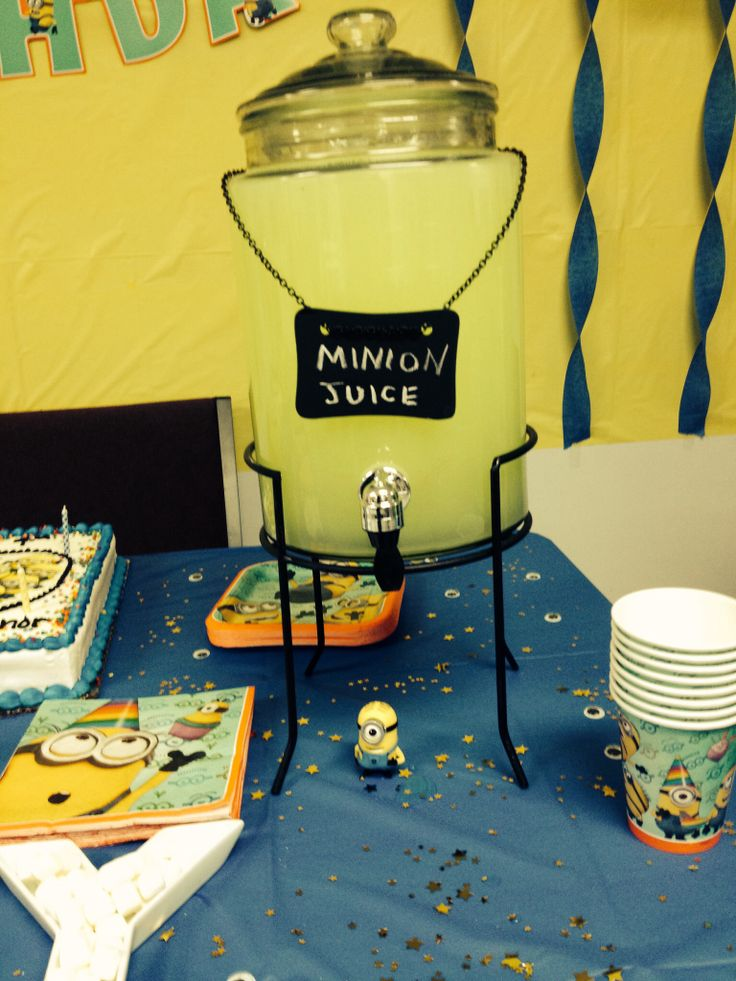 Despicable me birthday party food