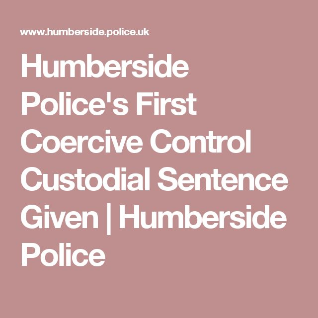Humberside Police's First Coercive Control Custodial Sentence Given | Humberside Police