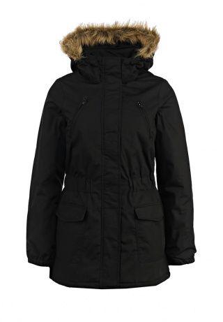 Практичная женская куртка от Blend. Модель черного цвета выполнена из хлопка и синтетического материала. Детали: утеплитель из полиэстера, съемный капюшон на кнопках с меховой опушкой, четыре внешних кармана, эластичные резинки по бокам, застежка-молния и планка на кнопках. http://j.mp/1pPtjQP