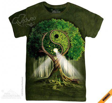 Yin Yang Tree - The Mountain - Damska - Koszulka damska z nadrukiem Yin Yang- www.veoveo.pl