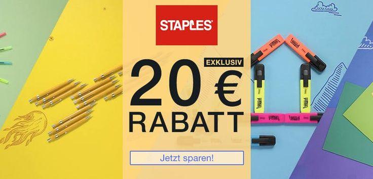 Staples 20€ Gutschein - Bürobedarf günstig. Gutschein Coupons, Rabattcode für Staples