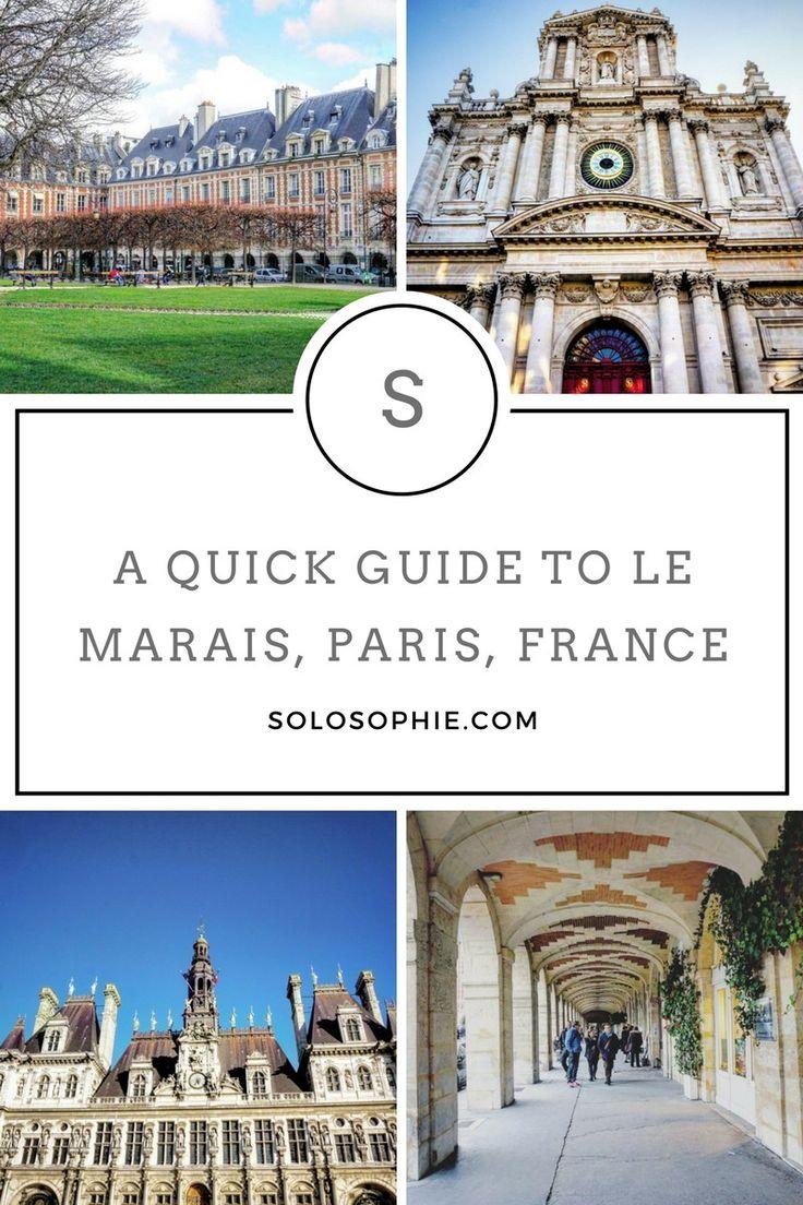 una guía rápida de Le Marais, París, Francia
