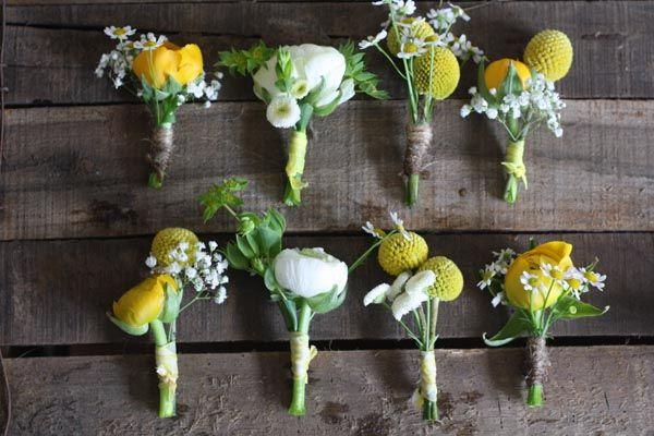 Yellow Wedding Flowers ~ Yellow Bouquets