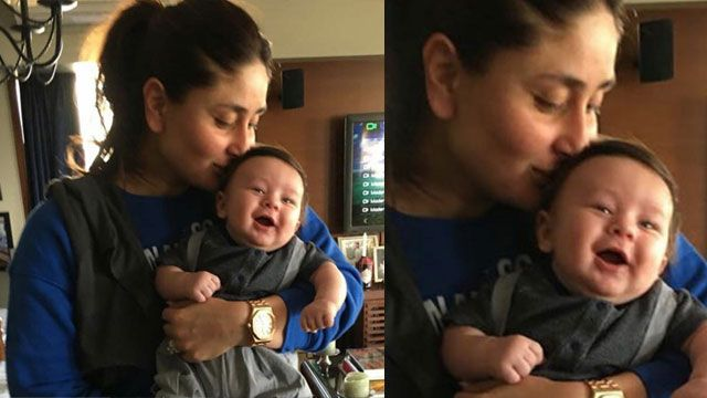 Here's An Adorable Picture of Mommy Kareena Kapoor Khan Kissing Taimur Ali Khan