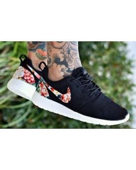 Nike Roshe Run Mesh Black Floral For Men and Women | roshe run