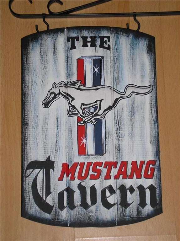 CLASSIC FORD MUSTANG TAVERN SIGN - MUSCLE CAR PUB SIGN