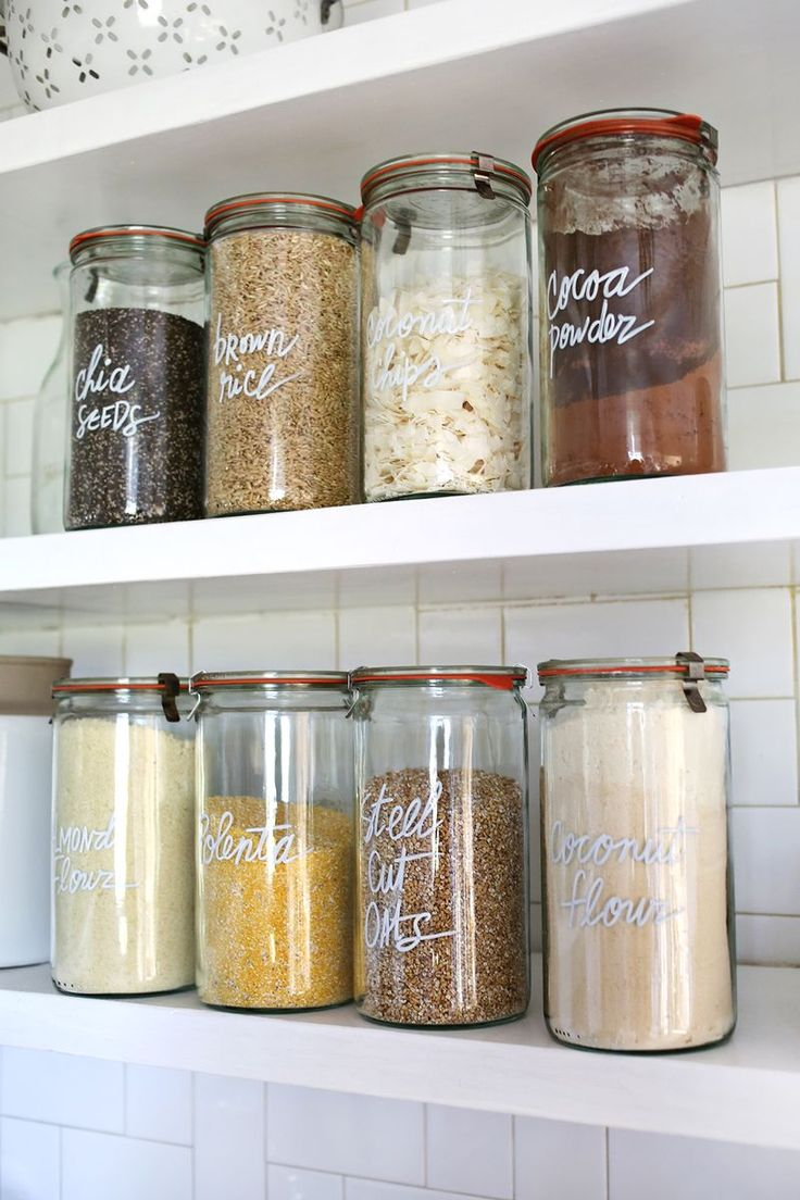 diy projects that will give your kitchen an updated look - Kitchen Storage Containers