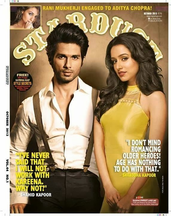 Shahi Kapoor and Shradha Kapoor on the Cover of Stardust Magazine - October 2013.