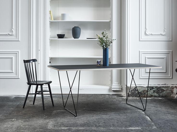 Reverse table legs in black