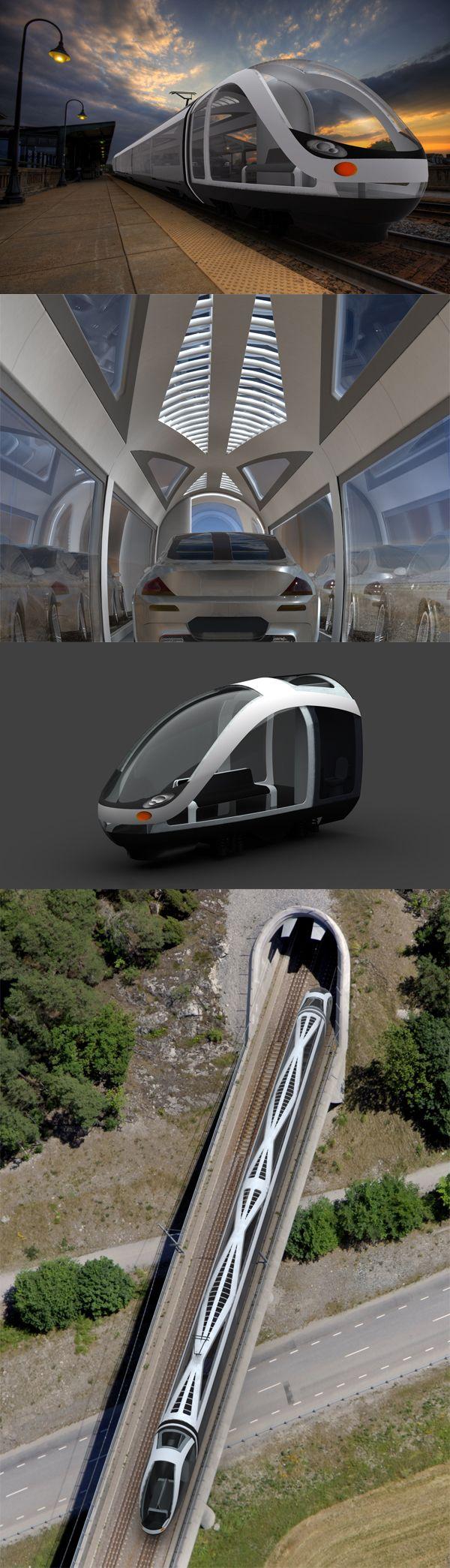 The futuristic Auto Train