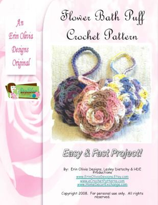 Free Crochet Pattern For Bath Pouf : Crochet flower bath puff Crochet Pinterest Too cute ...