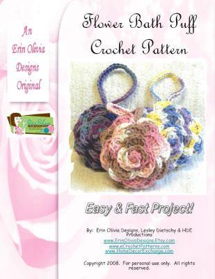 Free Crochet Pattern For Bath Pouf : Crochet flower bath puff Crochet Pinterest Too cute ...