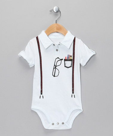 Boy Genius Polo Bodysuit - Infant by Mini Shatsu