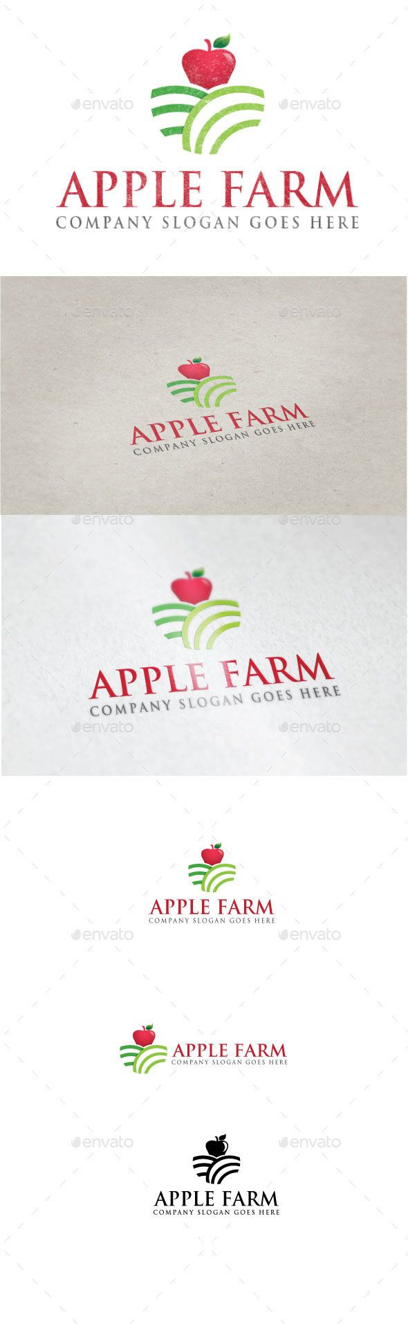 Apple Farm Logo by Goodigital Features: - eps and ai FILE - CMYK 300 DPI - FREE FONT USED - LAYERS ORGANIZED FONT trajan Asap Download: http://www.fontpalace.co