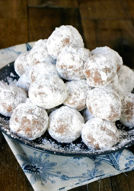 Rum Balls - This recipe is easy and yummy.  I used dark chocolate cocoa powder, and they are rich and delicious.  Not too strong, like my grandmother's recipe.  It did fill up my food processor, though.