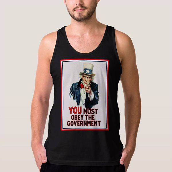 Uncle Sam You Must Obey Men Tank Top - T-Shirts, Tank Tops