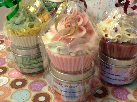 Handmade Goats milk Cupcake soap mini by DivineSoapyDelights, $7.99 - such a cute idea!