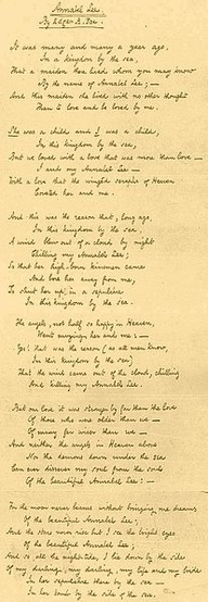 Annabel Lee, Edgar Allan Poe   Favorite Poem as a child--memorized even!