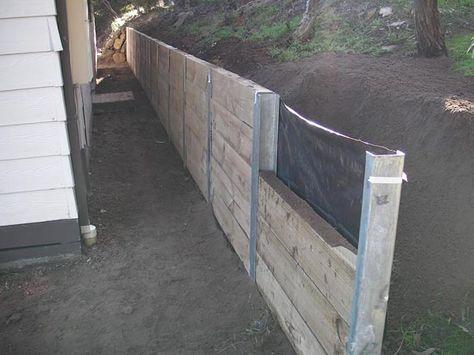 wood retaining walls   ... Wall , Pine Sleeper Wall , Retaining Wall , West Coast Retaining Wall