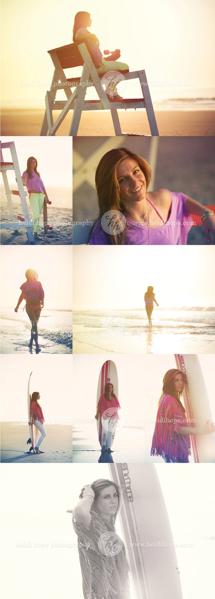 Teen Modeling and Senior Surfing Shoot on the beach by Heidi Hope Photography