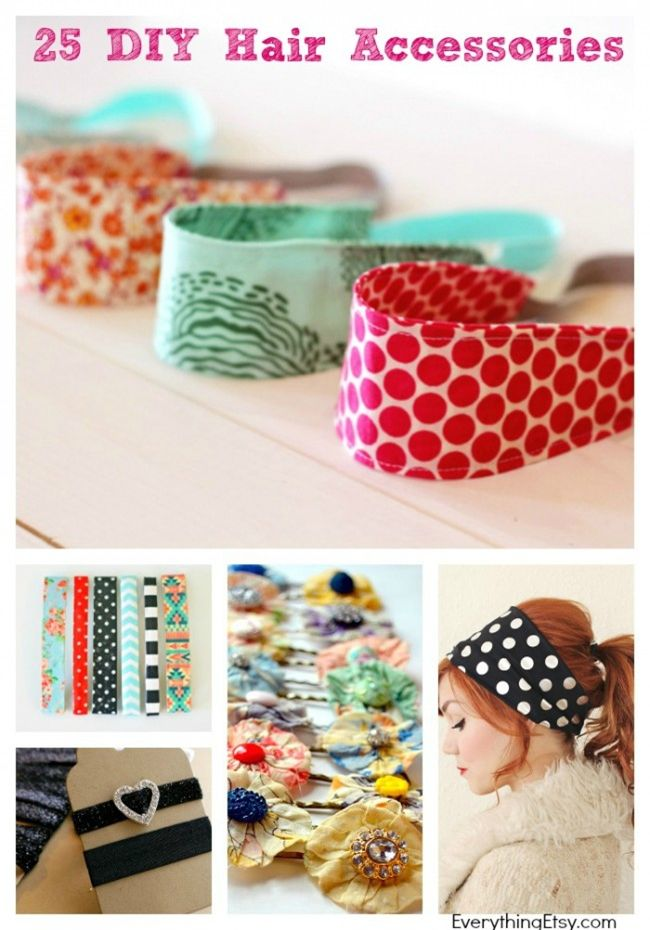 25 diy hair accessories for summer everythingetsy