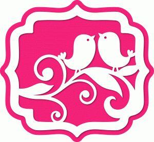 Silhouette Design Store - View Design #64897: 2 birds bracket label