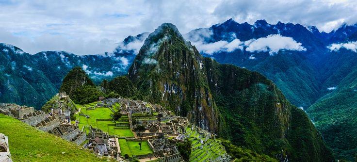 Cloudy Machu Picchu Panorama