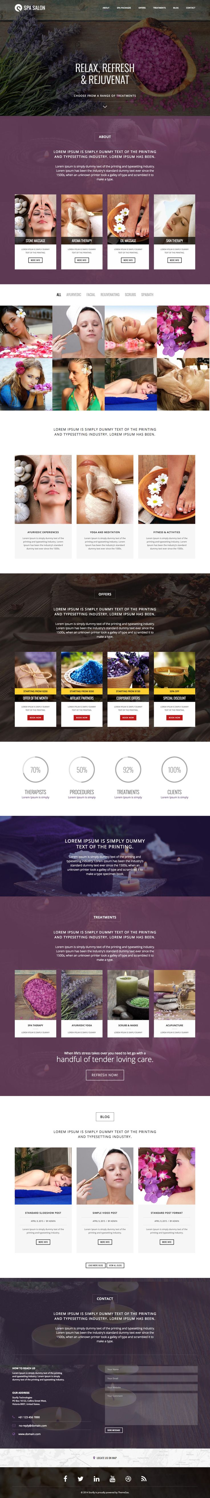 'Sturlly' is a One Page WordPress theme that caters for many different industries. I find it interesting to see how theme shops go about targeting a market for their new products and I think NRGthemes have a good job with 8 completely different demos. There are theme demos for Fashion, Restaurant, Interior Design, Travel Agency, Personal Resume, Design Agency, Architecture Firm and Spa Salon (seen in this screenshot). Good to know this theme has a 5 star rating.