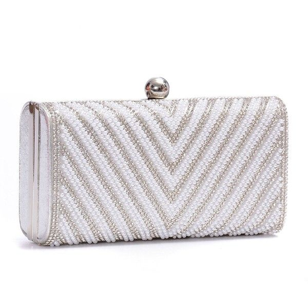 Womens Evening Clutch Bag Wedding Purse Bridal Prom Handbag Party Bag... ($19) ❤ liked on Polyvore featuring bags, handbags, clutches, evening clutches, evening purses clutches, bridal party clutches, man bag and party clutches